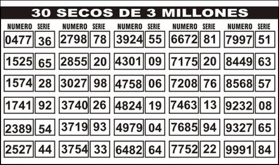 Ver ganadores de 30 secos de 3 millones