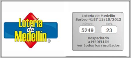 loteria de medellin ver resultado ULTIMO SORTEO