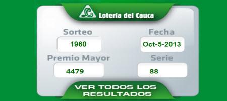 loteria del cauca ver resultado sabado 5 de octubre 2013