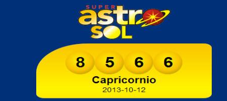Resultado último sorteo de Astro Sol-12 de octubre de 2013