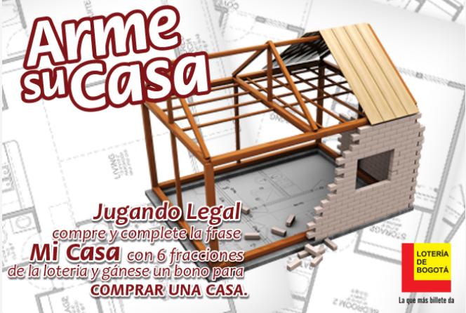"""Promoción """"Arme su Casa"""" de la Loteria de Bogotá"""